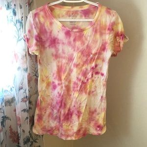 American Eagle hand dyed tee